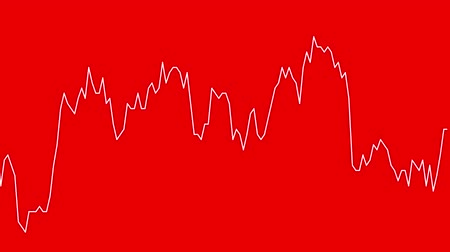 castiçal : white line graph on red background chart of stock market investment trading.