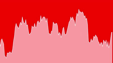 white line graph on red background chart of stock market investment trading.