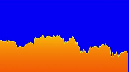 ralli : orange line graph on blue background chart of stock market investment trading.
