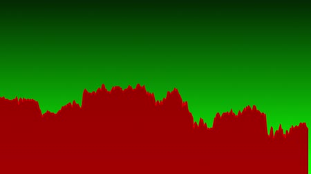 ralli : red line graph on green background chart of stock market investment trading.