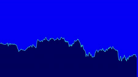 ralli : blue line graph on black background chart of stock market investment trading.