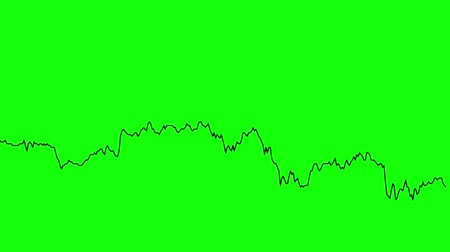 zisky : green line graph on green background chart of stock market investment trading.