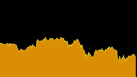 ralli : orange line graph on black background chart of stock market investment trading.