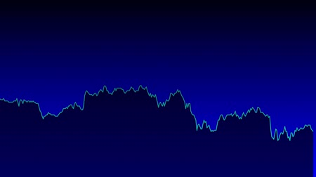 tendency : blue line graph on blue background chart of stock market investment trading. Stock Footage
