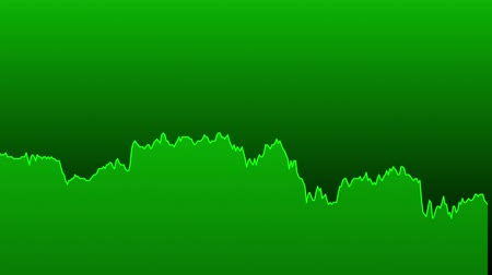 earnings : green line graph on green background chart of stock market investment trading.