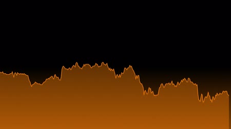 earnings : orange line graph on black background chart of stock market investment trading.