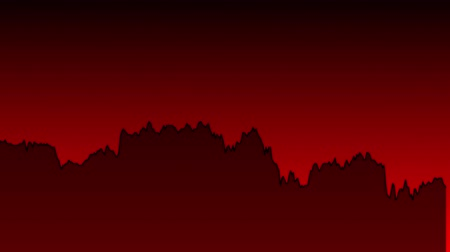 earnings : black line graph on red background chart of stock market investment trading.