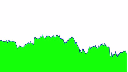 ralli : green line graph on white background chart of stock market investment trading.