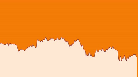 ralli : white line graph on orange background chart of stock market investment trading.