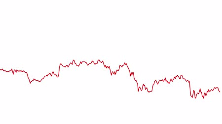 tendency : red line graph on white background chart of stock market investment trading.