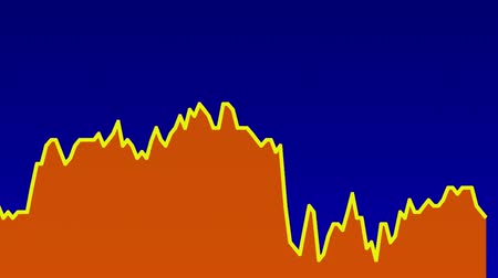 подсвечник : orange line graph on blue background chart of stock market investment trading.