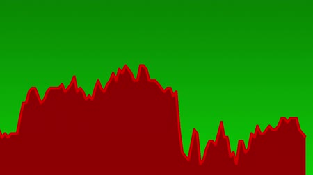 şamdan : red line graph on green background chart of stock market investment trading.