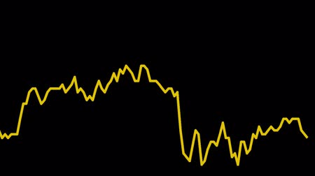 rali : orange line graph on black background chart of stock market investment trading.