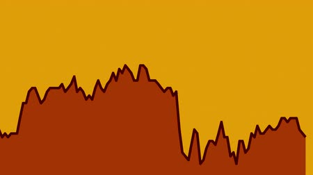 şamdan : black line graph on orange background chart of stock market investment trading.