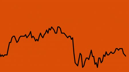 castiçal : black line graph on orange background chart of stock market investment trading.