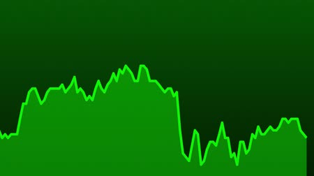 прогноз : green line graph on green background chart of stock market investment trading.