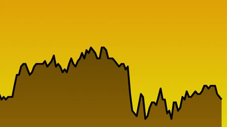 candlestick : black line graph on orange background chart of stock market investment trading.