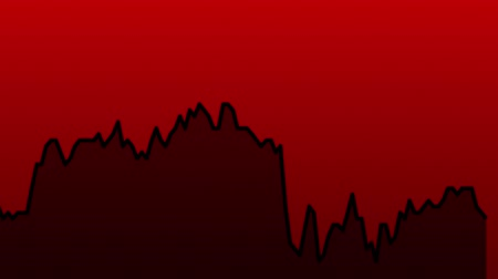 castiçal : black line graph on red background chart of stock market investment trading.