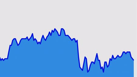 castiçal : blue line graph on white background chart of stock market investment trading.