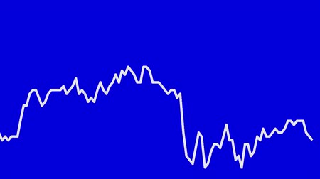 rali : white line graph on blue background chart of stock market investment trading.