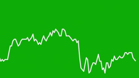 castiçal : white line graph on green background chart of stock market investment trading.