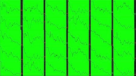 mudança : Timelapse screen. Fast time. Market technical analysis. Trading range Stock Footage