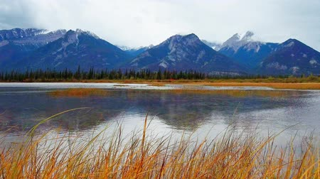 jasper : Jasper National Park Lake view and snow mountain, Canada.