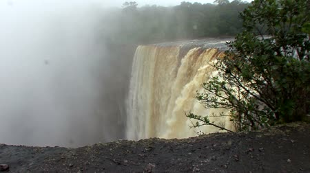 guyana : Highest single drop waterfall in the world Kaieteur on the Potaro River in Guyana Stock Footage