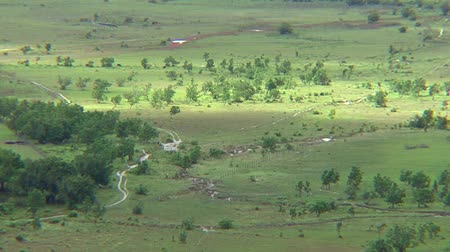 guyana : Savanna scenery from the hill in Guyana Stock Footage