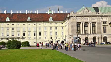 hofburg : VIENNA, AUSTRIA - AUGUST 06, 2015: Built in the 13th century Hofburg Palace is the former imperial palace in the centre of Vienna and is the official residence and workplace of President of Austria.