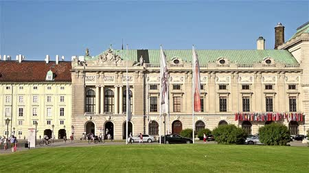 hofburg : VIENNA, AUSTRIA - AUGUST 20, 2015: Built in the 13th century Hofburg Palace is the former imperial palace in the centre of Vienna and is the official residence and workplace of President of Austria.