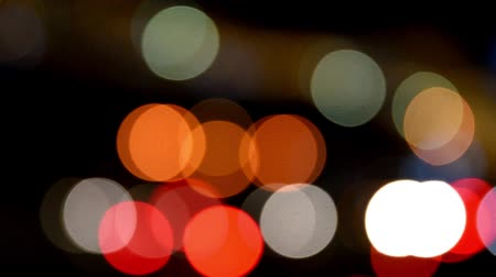 light : City Traffic Lights Background With Blurred Lights