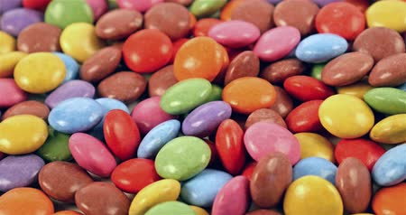 colorful candy : Colorful Coated Candies Close Up