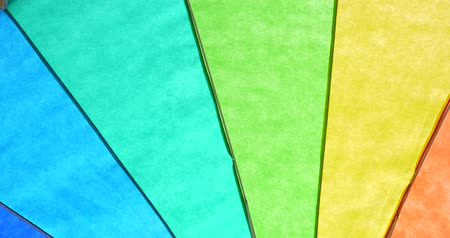 multicor : Rainbow Colored Umbrella Abstract Background Stock Footage
