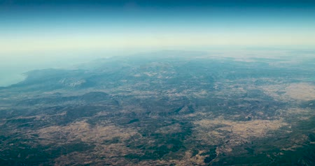 satelite : Aerial View Of Planet Earth As Seen From 40.000 Feet Altitude