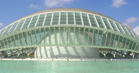 ciudad : VALENCIA, SPAIN - JULY 21, 2016: Hemispheric of Arts of City of Arts and Sciences is an entertainment based cultural and architectural complex in the city of Valencia.