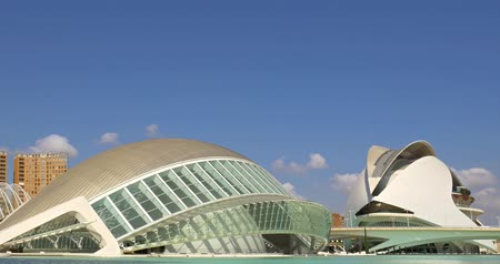 ciudad : VALENCIA, SPAIN - JULY 21, 2016: Hemispheric and Reina (Queen) Sofia Palace of Arts of City of Arts and Sciences is an entertainment based cultural and architectural complex in the city of Valencia.