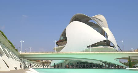 ciudad : VALENCIA, SPAIN - JULY 21, 2016: Reina (Queen) Sofia Palace of Arts of City of Arts and Sciences is an entertainment based cultural and architectural complex in the city of Valencia.