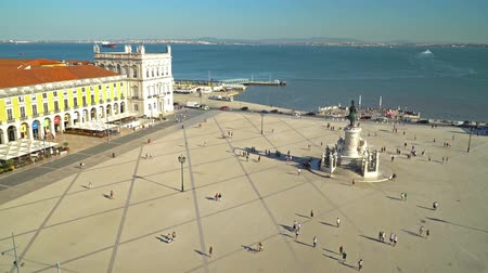 comercio : LISBON, PORTUGAL - AUGUST 11, 2017: Praca do Comercio (Commerce Square or Terreiro do Paco) is situated near the Tagus river and is a major tourist attraction in downtown Lisbon city.