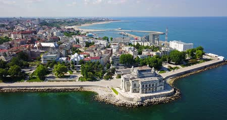 architectural heritage : Aerial View Of Constanta City At The Black Sea In Romania