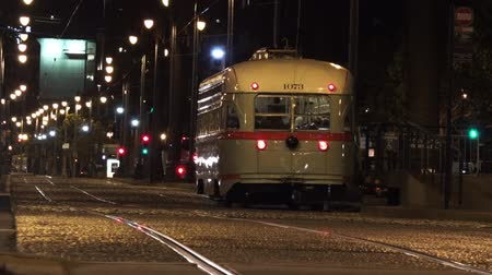 munição : SAN FRANCISCO - MAY 21 2015:One of San Franciscos original double-ended PCC streetcars.In 2006, it served 46.7 square miles 121 km2 with an operating budget of about 700 million