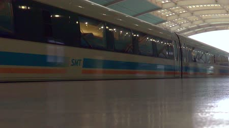 mekik : SHANGHAI, CN - MAR 18 2015:Shanghai Maglev Train -Shanghai Transrapid. The line is the first commercially operated high-speed magnetic levitation line in the world