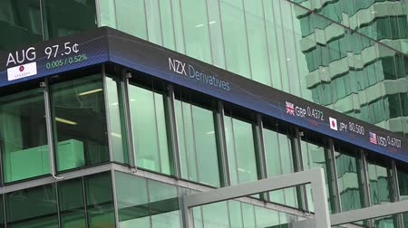 nzl : NZX in Auckland New Zealand.As of November 2014, NZX had a total of 258 listed securities with a combined market capitalisation of 94.1 billion Stock Footage