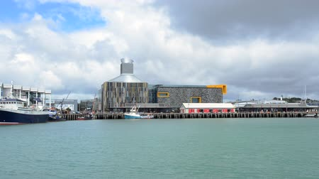 nzl : Wynyard quarter waterfront in Auckland, New Zealand.Auckland has been rated one of the worlds top 10 cities to visit by travel bible Lonely Planet. Stock Footage