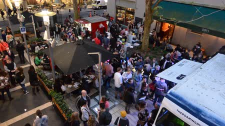 nzl : People participate in the public Artweek Auckland event. Its a visual arts festival provided by galleries, across Auckland to expand the visual arts audience through discovery.