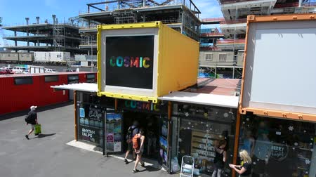nzl : Re:START. Its a popular temporary mall built from shipping containers created in response to 2011 Christchurch earthquake, which destroyed most buildings in City Mall.