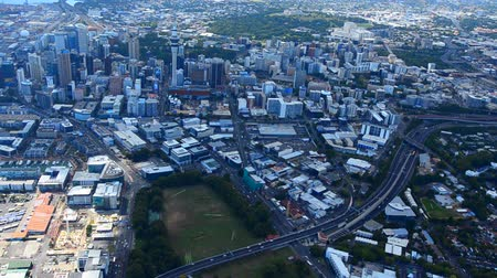 nzl : AUCKLAND - JAN 31 2016:Aerial view of  Auckland financial center, New Zealand. Auckland is the financial capital of new Zealand