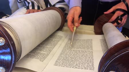 israelite : Jewish rabbi read Torah.Traditionally the words of the Torah are written on a scroll by a sofer on parchment in Hebrew. Reading the Torah is one of the bases for Jewish life.
