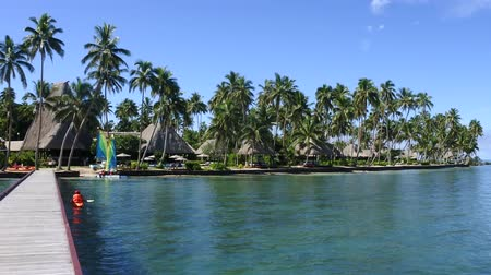 melanesia : Landscape of a tropical resort on Vanua Levu Island, Fiji.
