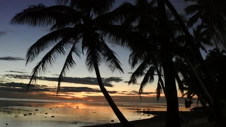 melanesia : Landscape of a sunset in the Coral Coast, Fiji. The coral coast is a home to many hotels and resorts on the island of Viti Levu, in Fiji.